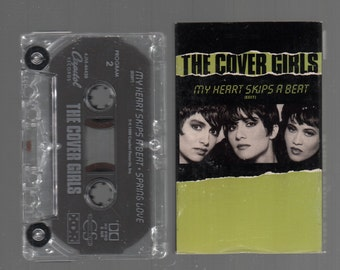 Vintage Cassette Tape : Cassette Single - The Cover Girls - My Heart Skips A Beat / Spring Love 4JM-44436