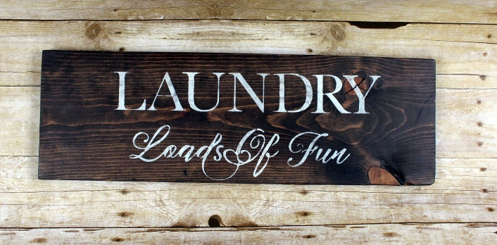 reclaimed wood laundry room decor sign rustic laundry room