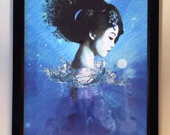 Geisha Rec. Framed Canvas