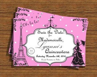 French save the date | Etsy