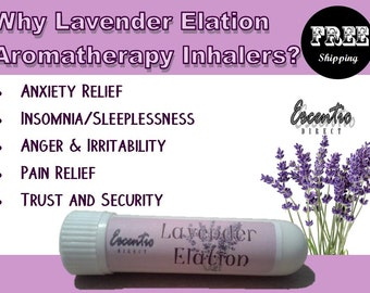 Lavender Inhaler (Aromatherapy * Spa * Pure Essential Oil) Free Shipping in US / Anxiety / Trust and Security / Insomnia / Pain