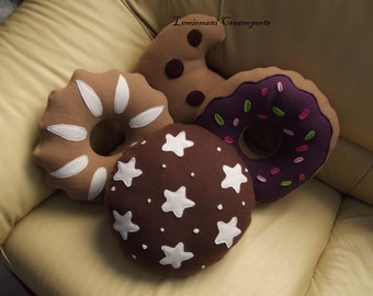 13 cookies cookie shaped pillows Antipilling Fleece patterns YOU CHOOSE Christmas gift idea
