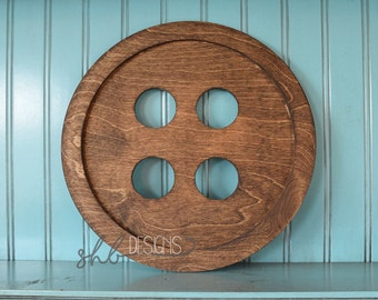 Rustic Wooden Button Shelf or Wall Decor | Farm House Home Decor