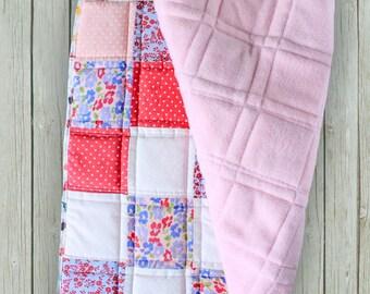 BABY BLANKET - PLAYMAT quilt - for girls