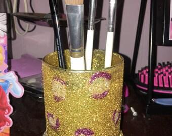 LSU inspired Make-up brush holder