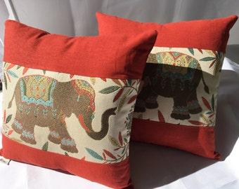 Elephant Pillow 14x14~