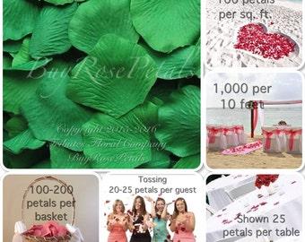 500 Jade Green Rose Petals -Silk Rose Petals for Weddings