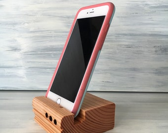 Iphone wood stand sound amplifier, iphone 6 plus, 6, 5 and samsung Galaxy stand sound amplifier