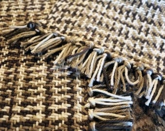 Woven placemat set in brown and beige tones, set of 5