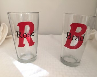 Personalized Pint Glasses, set of 2
