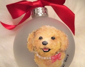 Custom Pet Portrait Ornaments