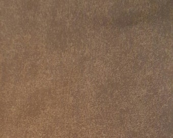 100% Cotton Quilting Fabric Chocolate Brown One Yard