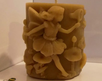 Pure Beeswax Fairy Candle