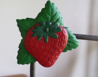 Ceramic Strawberry MAgnet (#238B)