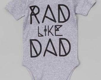 Rad dad onesie/rocker onesie /funny baby onesie/father to be/mother to be