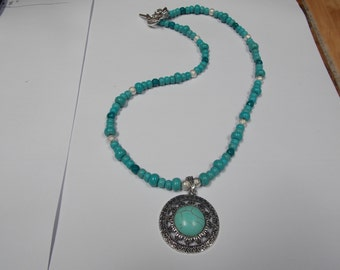 Hand made one of a kind Necklace Turquoise