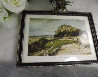 Outlander, Stirling Castle - Home of the Regiment, Framed print, Vintage
