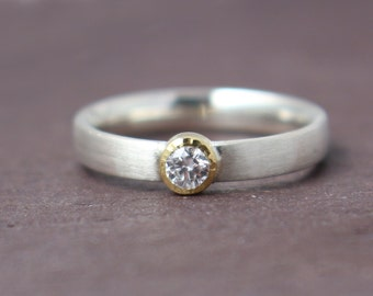 Diamond ring, engagement ring, Solitaire application ring