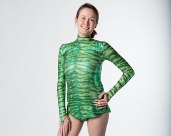 Skirted Unitard for aerial trapeze, lyra, silks, ice skating, dance, acro or rhythmic gymnasitcs