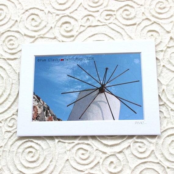Windmill 5x7 Matted Print 4x6 Photo Print In 5x7 Mat Room