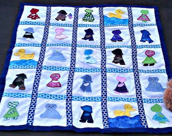 Hand Appliqued Baby Quilt