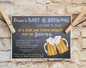 Customizable Daddy Baby Shower Invitations, digital, printable file - Baby Boy - Celebrate Daddy To Be