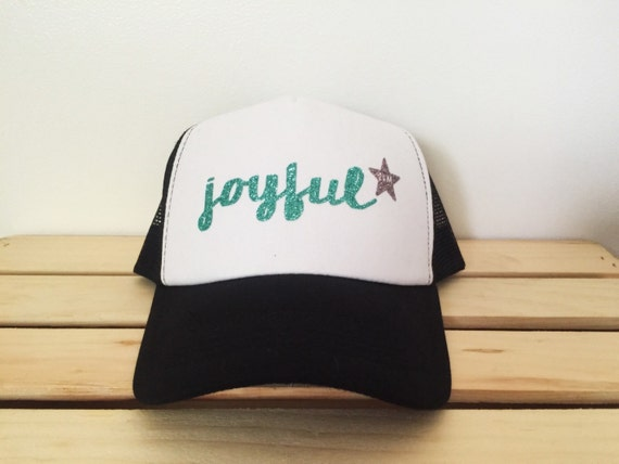 "Custom ""Joyful"" Trucker Hat- 2 Legged Mermaid"