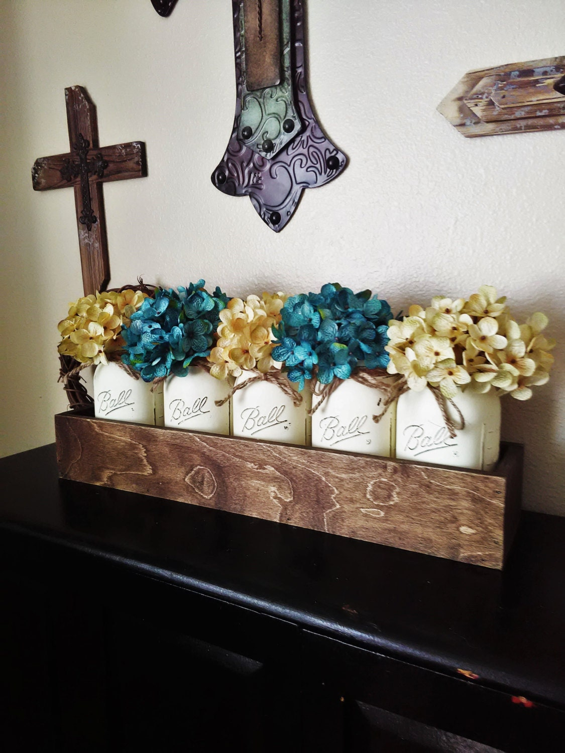 Wedding Present Table Decorations : Table Decor New Home Gift Wedding Gift by CountryHomeandHeart