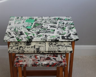 Nest of Tables in Comic Decoupage