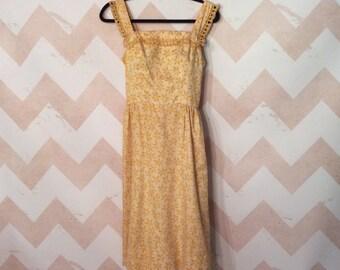 Tina Leser Original Designer Dress/Vintage Tina Leser/1950's Tina Leser/Designer Original/Fashion Designer Dress/Tina Leser Yellow Sundress