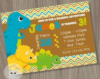 Dinosaur Birthday invitation, Dinosaur Birthday, Dinosaur Party, Dino Invitation, Dinosaur Party Invitation, Dinosaur Printable