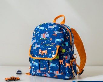Toddler backpack with dogs