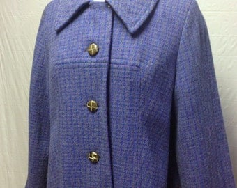 Vintage Blue Tweed Jacket