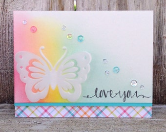 I Love You Handmade Greeting Card / Just Because / Thinking of You / Anniversary / Thank You