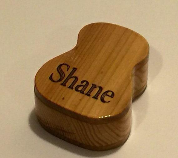 made to order wooden guitar pick box cedar pine. Black Bedroom Furniture Sets. Home Design Ideas