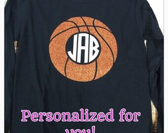 Monogram Basketball shirt long sleeve shirt monogram shirt
