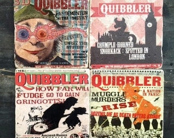Quibbler Harry Potter Coaster or Decor Accent