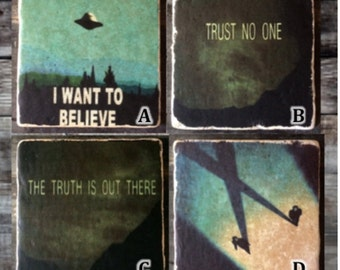 X-Files (Mix and Match) Coaster or Decor Accent