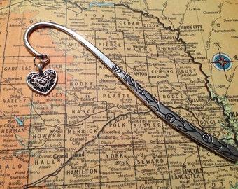 Heart Bookmark  - Art Deco Filgree Heart Bookmark