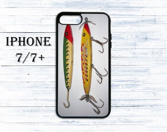 Fishing lures phone cover for iPhone 4/4s, iPhone 5/5s/5c, iPhone 6/6+, iPhone 6s/6s Plus, iPhone 7/7+ phones - gift idea case for iPhone