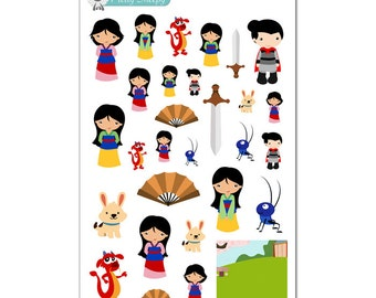 Mulan Stickers - Disney Planner Stickers
