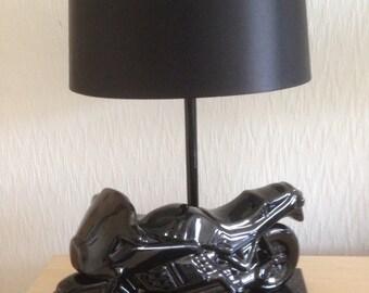 Up-cycled Motorbike Lamp