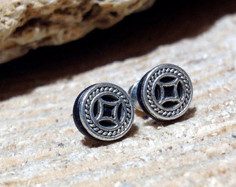 Vikings Earring Studs Men's Earrings Men's Ear Studs Street Style Earrings Historical Jewelry Celtic Earrings Male Studs Men's Jewelry