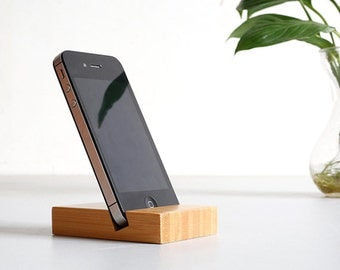 Bamboo iPhone Stand,Wooden Phone Stand, iPhone Docking, Wood iPhone Stand,Phone Dish,Dock Station