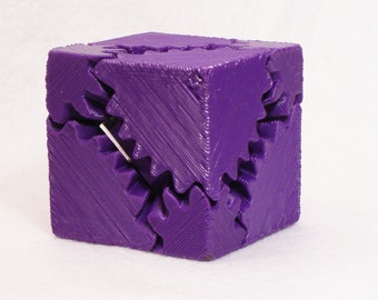 Fidget Widget Gear Cube Purple (Free Shipping)