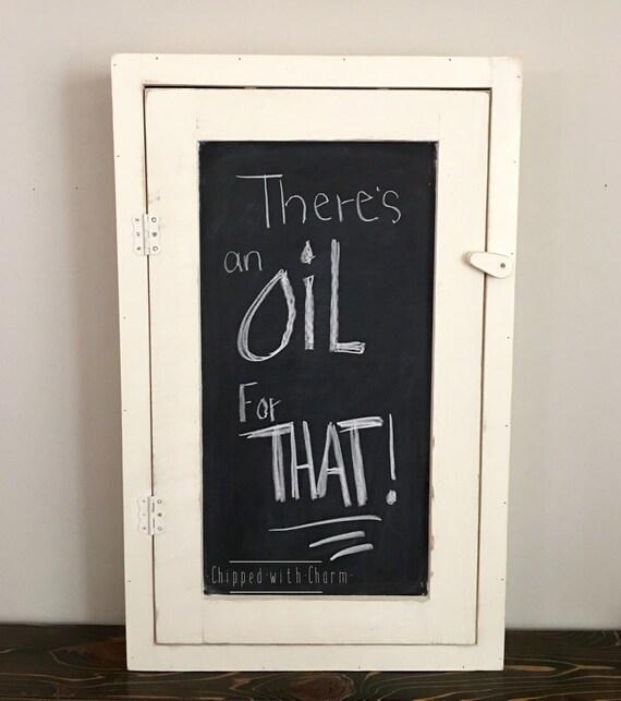 Chalkboard Oil Cabinet Essential Oil Shelf Oil By