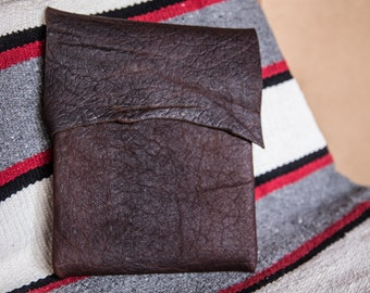 Leather iPad Sleeve | American Bison | Handmade in the USA