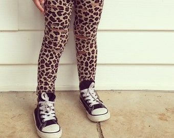 Distressed Leopard leggings