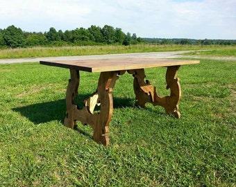 Farmhouse Southern Belle Trestle Table!