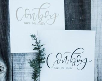Cowboy Print